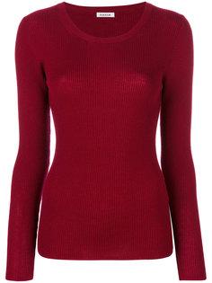 свитер в рубчик с круглым вырезом P.A.R.O.S.H.