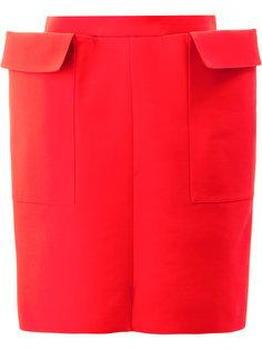 мини юбка прямого кроя Maison Rabih Kayrouz