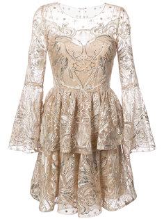 тюлевое платье с отделкой пайетками  Marchesa Notte