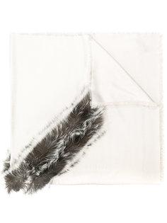 шарф с пушистой оторочкой Fendi