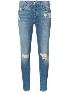 узкие джинсы с протертостями Mother