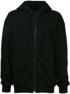 back print zipped hoodie Juun.J