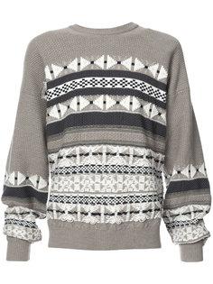 вязаный свитер с орнаментом Maison Margiela