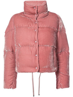 укороченная бархатная куртка-пуховик Moncler