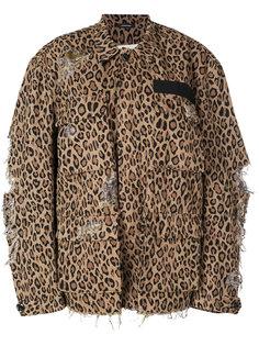 куртка с леопардовым принтом R13