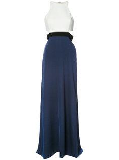 платье в пол в стиле колор блок Halston Heritage