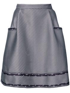 юбка А-образного силуэта с оборками Carolina Herrera
