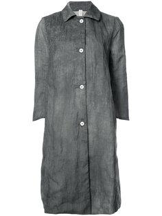 длинное пальто на пуговицах A Diciannoveventitre