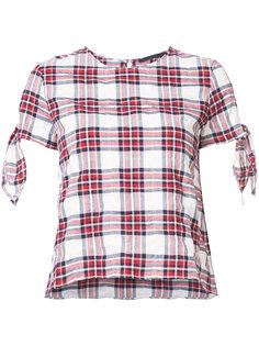 блузка в клетку с рукавами на завязках Jenni Kayne