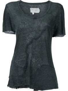 distressed patchwork T-shirt Greg Lauren