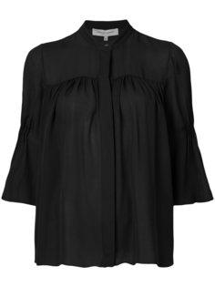 блузка-трапеция с манжетами Carolina Herrera
