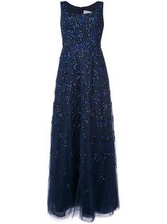 фактурное платье с вышивкой  Carolina Herrera