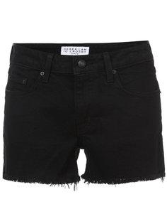 джинсовые шорты с бахромой Derek Lam 10 Crosby