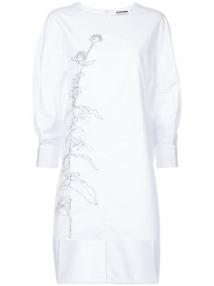 floral print longsleeved blouse Jil Sander