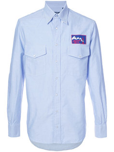 рубашка с вышитым логотипом Gitman Vintage