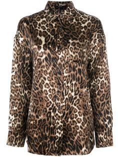 рубашка с леопардовым принтом R13