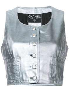 """жилет с вырезом """"ковш"""" Chanel Vintage"""
