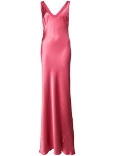 платье в пол с V-образным вырезом Galvan