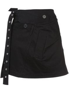 твиловая юбка мини с запахом Proenza Schouler