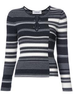 свитер в рубчик с полосками  Derek Lam 10 Crosby