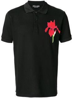 футболка-поло с цветком  Alexander McQueen