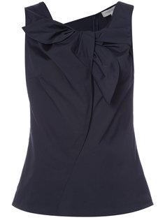 блузка без рукавов с оборкой Carolina Herrera