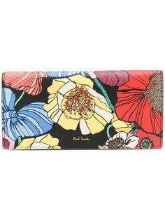 складной кошелек с цветочным принтом  Paul Smith