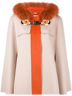 пальто с меховой оторочкой Fendi