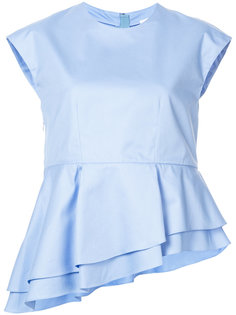 многослойная асимметричная блузка Carven