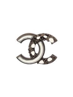 брошь с логотипом СС Chanel Vintage