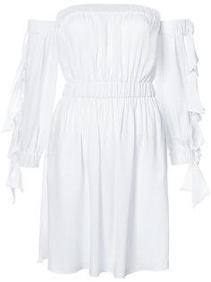 приталенное платье с завязками на рукавах Milly