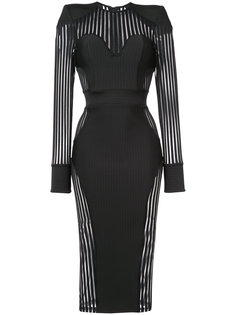 облегающее платье с прозрачными панелями Zhivago