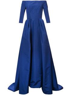 вечернее платье с открытыми плечами Carolina Herrera