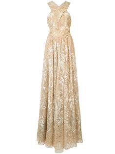 платье с цветочной отделкой  Marchesa Notte