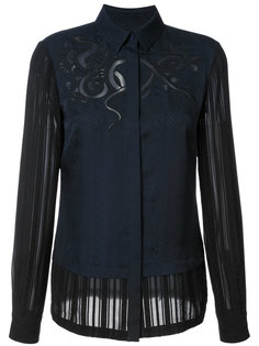 блузка с вышивкой  Yigal Azrouel