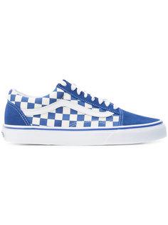 кроссовки в клетку на шнуровке Vans