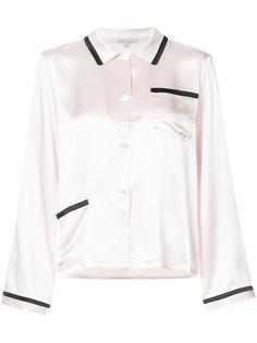 пижамная рубашка с контрастной отделкой  Morgan Lane
