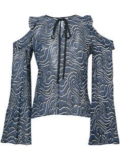 блузка с вырезными деталями Derek Lam 10 Crosby