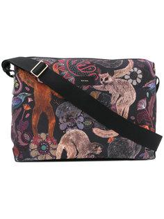 сумка-почтальонка с принтом обезьян   Paul Smith