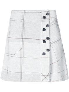 юбка мини с решетчатым принтом  Derek Lam 10 Crosby