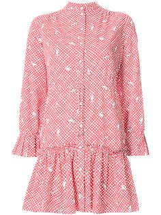 платье-рубашка с вышивкой Saloni