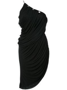 асимметричное платье с драпировкой Halston Heritage