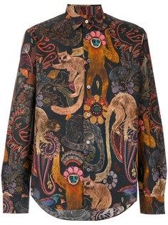 рубашка с принтом обезьян Paul Smith
