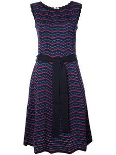 приталенное платье с шевронным узором  Carolina Herrera