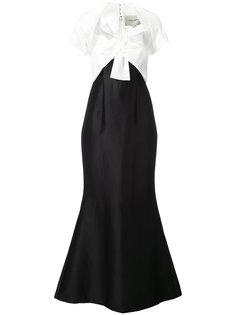 расклешенное платье  Carolina Herrera