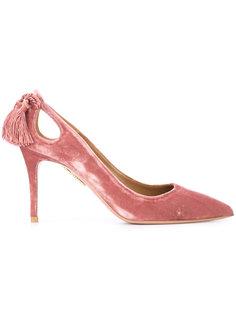 туфли с кисточками сзади Aquazzura