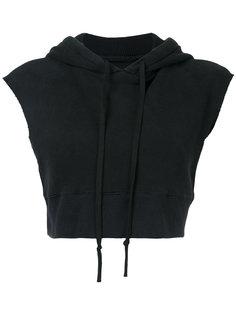 sleeveless cropped hoodie Greg Lauren