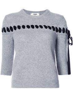 свитер с контрастной шнуровкой Fendi