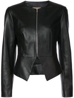 кожаная куртка без воротника Michael Kors