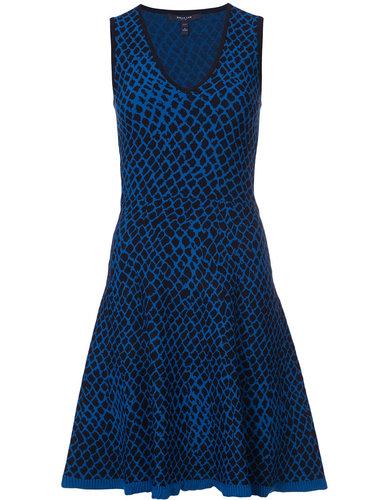 расклешенное платье с узором Derek Lam